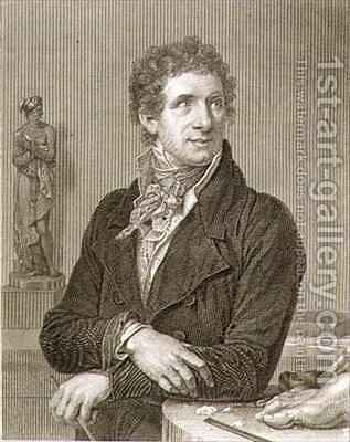 Portrait of Antonio Canova 1757-1822 by (after) Fabre, Francois Xavier - Reproduction Oil Painting