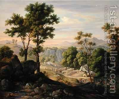 Italian Landscape 2 by Joachim Faber - Reproduction Oil Painting