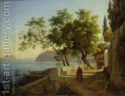 The Terrace of the Capucins in Sorrento by Joachim Faber - Reproduction Oil Painting
