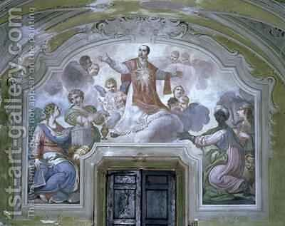The Apotheosis of St Ignatius of Loyola from the Refectory by Diacinto Fabbroni - Reproduction Oil Painting
