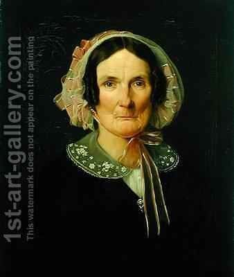 Barbara Heckius by Carl Eybe - Reproduction Oil Painting