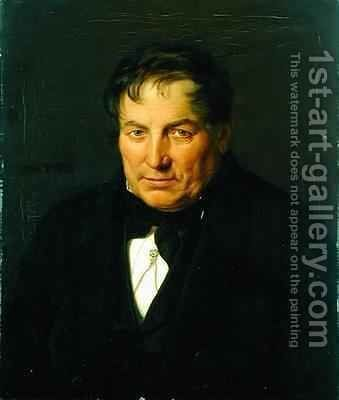 Johann Georg Hackius by Carl Eybe - Reproduction Oil Painting