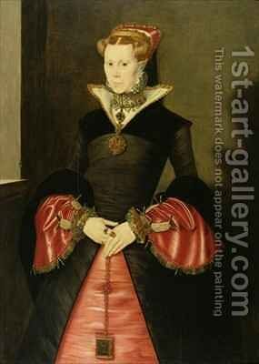Unknown Lady from the court of King Edward VI by Hans Eworth - Reproduction Oil Painting