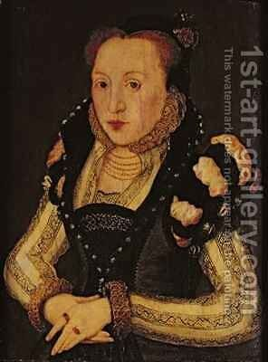 Lady Mary Grey 1545-78 by Hans Eworth - Reproduction Oil Painting