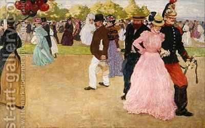 A Sunday Walk in the Bois de Boulogne by Henri-Jacques Evenepoel - Reproduction Oil Painting
