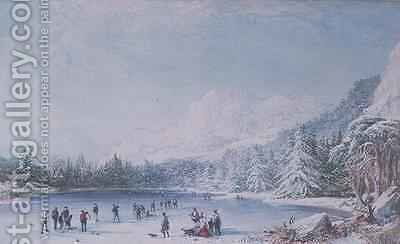 Curling by Bernard Walter Evans - Reproduction Oil Painting