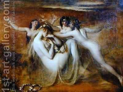Sabrina and her Nymphs by William Etty - Reproduction Oil Painting