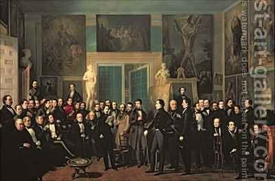 The Gathering of the Poets by Antonio Maria Esquivel Suarez de Urbina - Reproduction Oil Painting