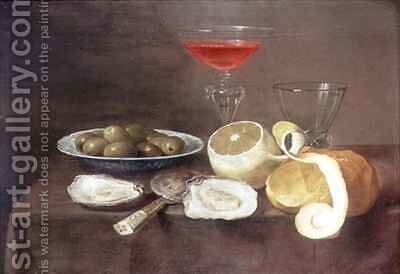 Still Life with Oysters by Jacob Fopsen van Es - Reproduction Oil Painting
