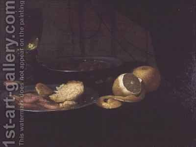 Still Life with Lemon by Jacob Fopsen van Es - Reproduction Oil Painting