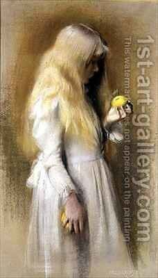Golden Hair by Nelly Erichsen - Reproduction Oil Painting