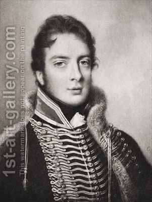 Lieutenant General William Warre 1784-1853 by (after) Engleheart, John Cox Dillman - Reproduction Oil Painting
