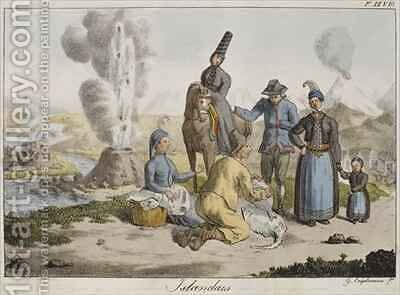 Icelanders by Gottfried or Godefroy Engelmann - Reproduction Oil Painting