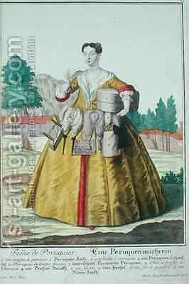 The Wigmakers Wife published in Augsburg by Martin Engelbrecht - Reproduction Oil Painting
