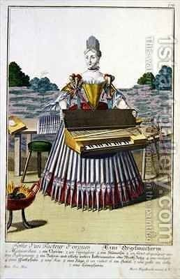 The Organ Makers Wife by Martin Engelbrecht - Reproduction Oil Painting