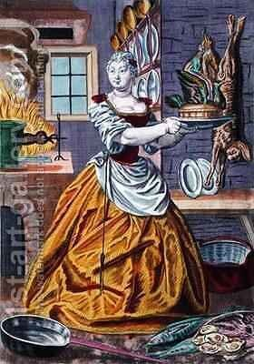 The Cook 3 by Martin Engelbrecht - Reproduction Oil Painting