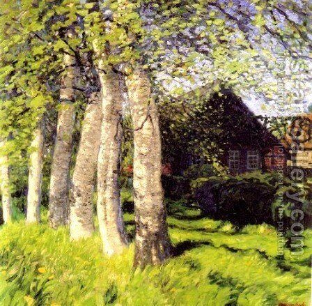Spring in Worpswede by Hans am Ende - Reproduction Oil Painting