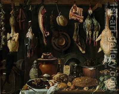 Still Life of Game Birds by (Jacopo Chimenti) Empoli - Reproduction Oil Painting