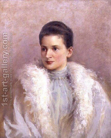 Portrait of Princess Wilhelmina Lobkowicz by Helena Eminger - Reproduction Oil Painting