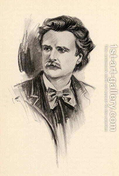 Edvard Grieg 1843-1907 by Chase Emerson - Reproduction Oil Painting