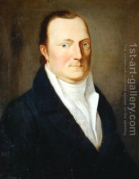 Portrait of President of the Police Ludwig von Manger by August von der Embde - Reproduction Oil Painting