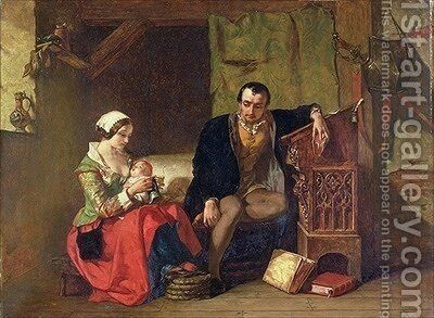 The Origin of the Stocking Loom by Alfred Elmore - Reproduction Oil Painting