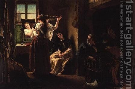 The Invention of the Combing Machine by Alfred Elmore - Reproduction Oil Painting