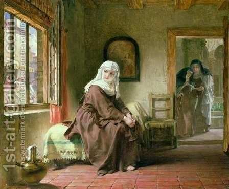 The Novice by Alfred Elmore - Reproduction Oil Painting