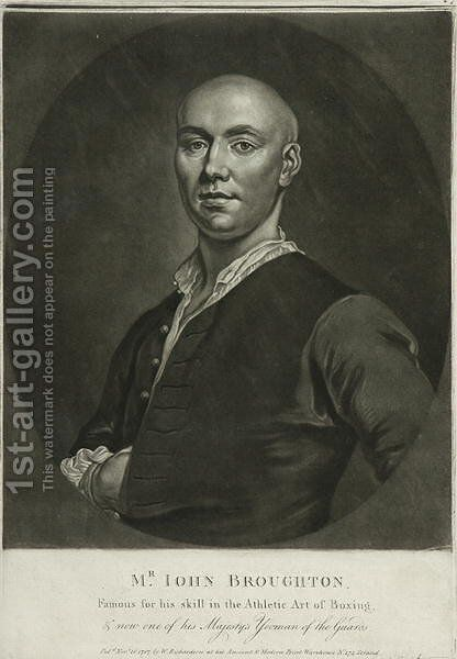 Mr John Broughton by (after) Ellys, John - Reproduction Oil Painting