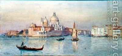 Santa Maria della Salute from the Lagoon by Tristram Ellis - Reproduction Oil Painting