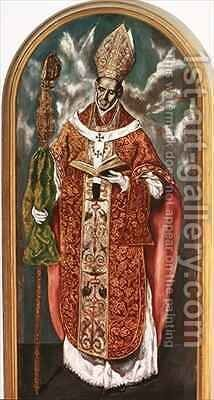 Saint Ildefonsus a copy of the original in the Escorial by (after) El Greco, Domenico - Reproduction Oil Painting