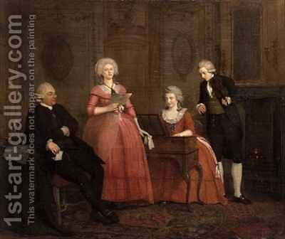 A Musical Party by Jan the Younger Ekels - Reproduction Oil Painting