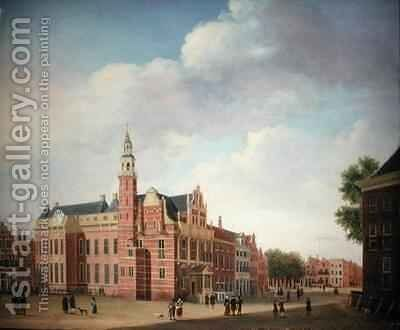 View of the Old Town Hall The Hague by Jan the Elder Ekels - Reproduction Oil Painting