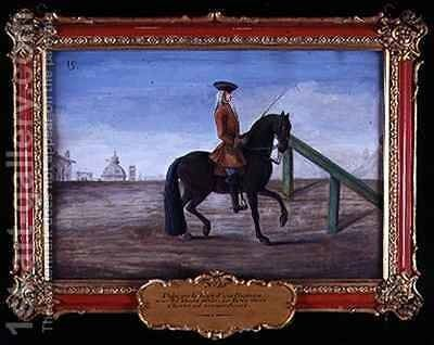 No 19 A horse of the Spanish Riding School by Baron Reis d' Eisenberg - Reproduction Oil Painting