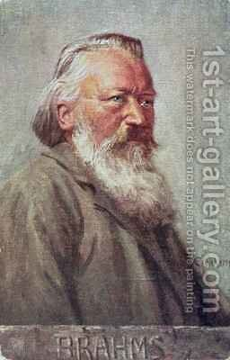 Portrait of Johannes Brahms German composer by Albert Eichhorn - Reproduction Oil Painting