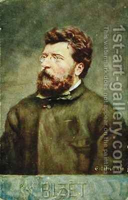 Portrait of Georges Bizet French composer by Albert Eichhorn - Reproduction Oil Painting