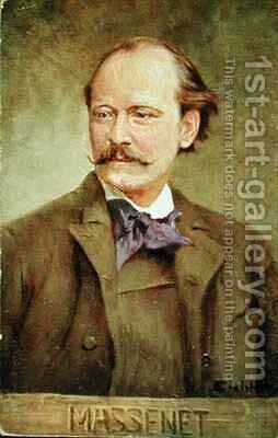 Portrait of Jules Massenet French composer by Albert Eichhorn - Reproduction Oil Painting