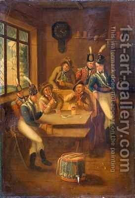 A Recruiting Party by A.E. Eglington - Reproduction Oil Painting