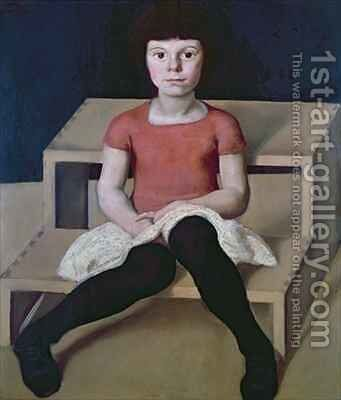 The Artists Youngest Daughter by Albin Egger-Lienz - Reproduction Oil Painting