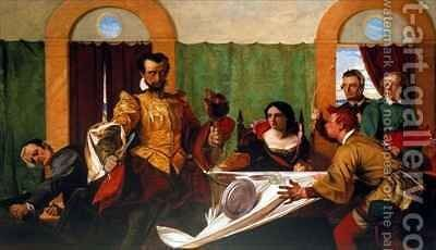 Taming of the Shrew by Augustus Leopold Egg - Reproduction Oil Painting