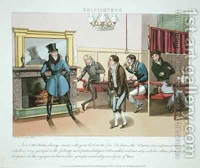 Selfishness plate 9 from The Necessary Qualifications of a Man of Fashion by Daniel Thomas Egerton - Reproduction Oil Painting