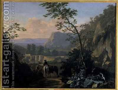 Southern landscape with Rider by Adriaen van Eemont - Reproduction Oil Painting