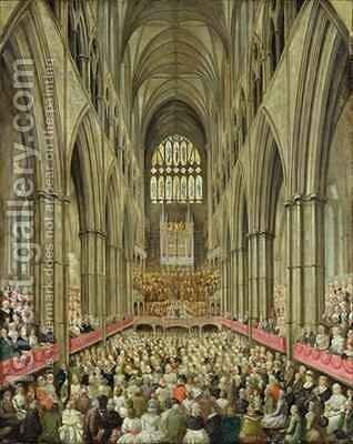 An Interior View of Westminster Abbey on the Commemoration of Handels Centenary Taken from the Managers Box by Edward Edwards - Reproduction Oil Painting