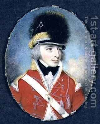 Miniature of an Unknown officer 2 by Henry Edridge - Reproduction Oil Painting