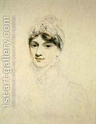 Portrait of a Young Lady by Henry Edridge - Reproduction Oil Painting