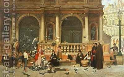 St Marks Venice by Adolf Echtler - Reproduction Oil Painting