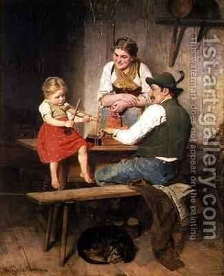 The Happy Family by Adolf Eberle - Reproduction Oil Painting