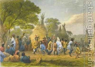Dog Dance of the Dakotas by (after) Eastman, Captain Seth - Reproduction Oil Painting