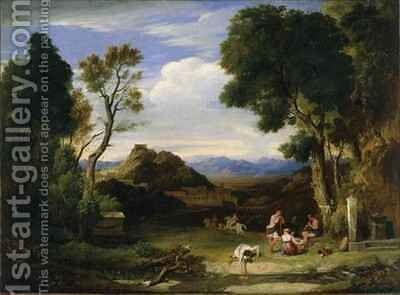 Classical Landscape by Sir Charles Lock Eastlake - Reproduction Oil Painting