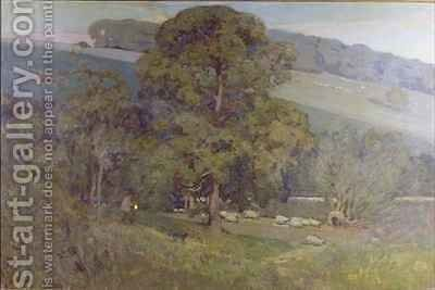 Moonlight in the Cotswolds by Sir Alfred East - Reproduction Oil Painting